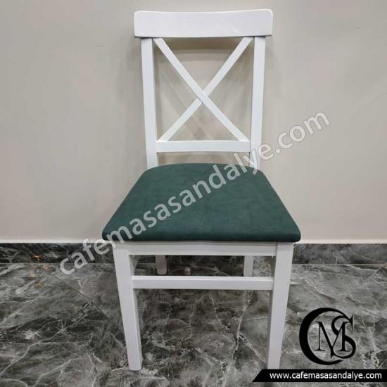 Ahşap Çapraz Sandalye (Döşemeli)