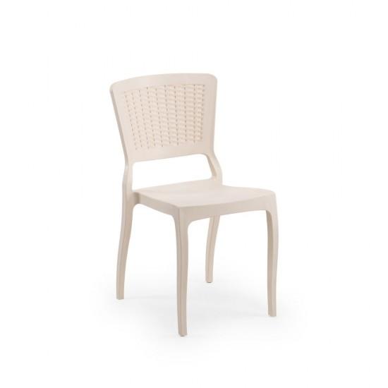 Antro Plastik Sandalye, Krem